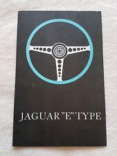 32B 46 Jaguar E-Type Coupe Roadster 3,8 Liter Motor Prospekt Brochure deutsch