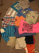 Lot of 14 pieces of Boy's Clothing-Size 14/16 Shorts and shirts