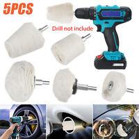 5pcs Car Motorcycle Polishing Buffing Pads Mop Wheel Kit Set for Drill Rotary