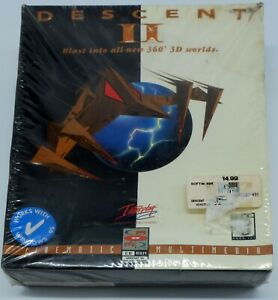 Descent II PC Game WIN 95 and DOS Versions 1996 Interplay Still Sealed