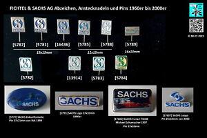 Fichtel&Sachs AG Abzeichen Anstecknadeln + Pins - lapel pins badges AUSSUCHEN