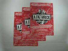 3 lots A Fat Wreck 2016 Japan Movie Flyer Nofx Lagwagon Bad Religion Vandals