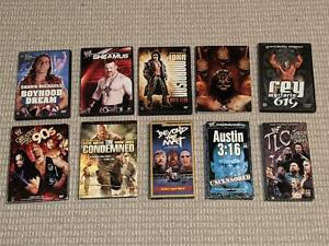 *WWE/WWF 10-DVD/VHS LOT* Wrestling PPV/Collection DVD Sets/Documentaries++