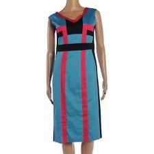 Cotton V Neck Formal Regular Size Dresses for Women