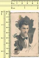 042 1930's Man Portrait, Abstract Hand Colored Color Tinted Guy vintage photo