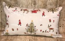 "12"" X 20"" Fryetts Christmas Handmade Cotton Chenille Cushion Cover"