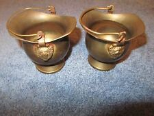 Vintage small Scuttle bucket Copper Brass Coal ash Scuttle Bucket Mini Lion Head