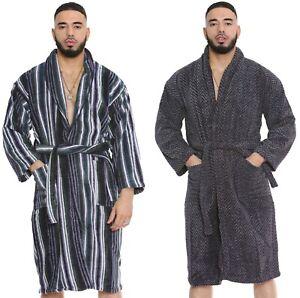 100% Egyptian Cotton Velour Terry Towelling Jacquard Bathrobe Dressing Gown