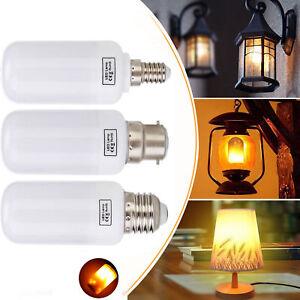 LED Flame Effect Simulated Nature Fire Light Bulb E27 E14 E26 E12 B22 Decor Lamp