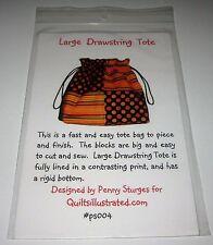 LARGE DRAWSTRING TOTE BAG fabric sewing pattern