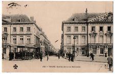 CPA 37 - TOURS (Indre et Loire) - 195. Entrée de la rue nationale (tramway)