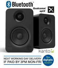 Kanto YU 140W Active Bookshelf Speakers with Bluetooth 4.2 and RCA Input
