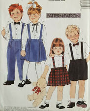 Mc-4013 Skirt Pants Shorts Bow Tie Sewing Pattern McCall's Child Size 2-3-4 UC