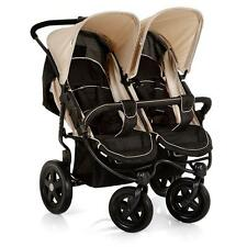 Hauck Roadster Duo SLX Twin Baby Carriages Double Pram caviar-almond