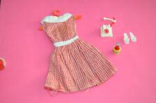 vintage PETRA PLASTY doll fashion : karro Kleid Dress Telephon Telefon