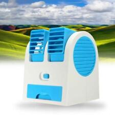 Portable Mini Small Fan Cooling Desktop Dual Bladeless USB Air Conditioner