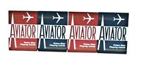 4 DECKS AVIATOR POKER PLAYING CARDS-2 RED -2 BLUE