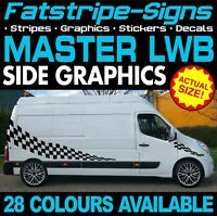 RENAULT MASTER LWB L3 GRAPHICS STICKERS STRIPES DECALS DAY VAN CAMPER CONVERSION