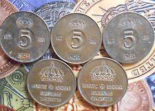 SWEDEN - 5 Öre - Gustaf VI Adolf 1952-1971 Bronze – 8 g – ø 27 mm 1 COIN