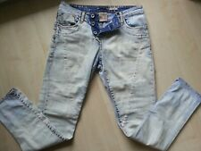 PLEASE Skinny-Denim-Blue-Bleached-Coloured-Jeans-Hose-Pants S Italy Vintage-Used