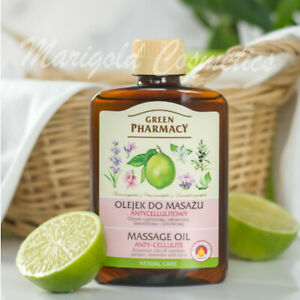 Green Pharmacy NATURAL Firming Body Massage Oil ANTI-CELLULITE Stretch Marks
