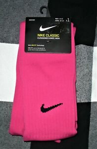 BNWT Men's Hot Pink Dri-Fit Classic Cushioned Knee High Soccer Socks by Nike