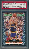 PSA 10 CHRIS MULLIN 1992-93 Topps Stadium Club MEMBERS ONLY BEAM TEAM GEM MINT