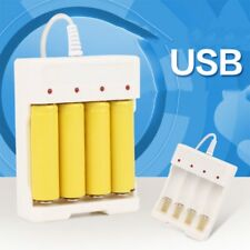 1.2V Universal Smart 4 Slot AA/AAA Rechargeable Battery Charger Adapter USB Plug