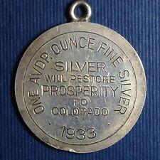 Century of Progress, Colorado, HK-867, 1 oz .999 Fine Silver So-Called Dollar