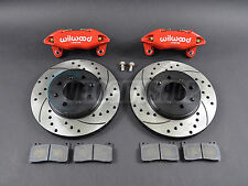 Wilwood DPHA Front Brake Calipers Drilled Slotted Rotors Kit Red 92-00 Civic EX