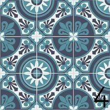 Fliesen Azulejos je 9,8x9,8 cm – 9 Designs Aufkleber Set - 9 Sticker - Design 4