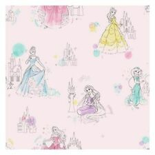 York DI0969 Disney Wallpaper Princess Pretty Elegant Unpasted Pink Wallcoverings