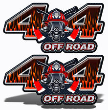 Firefighter 4X4 OFF ROAD DECAL Truck Sticker Volunteer Fire Department Mk009OR4