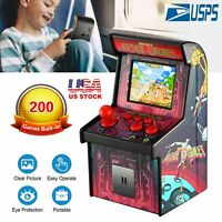 """Mini Arcade Handheld Game Console Game Player 200 Classic Games 2.5"""" LCD for Kid"""