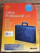 Microsoft Office Professional 2010, Vollversion, englisch mit MwSt-Rechnung