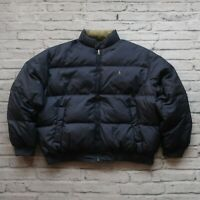 Vintage Polo Ralph Lauren Quilted Down Puffer Reversible Jacket Size XXL Puffy