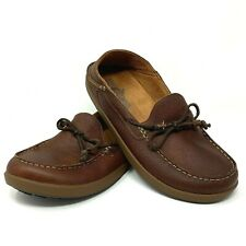 Olukai Men's Sz 11.5 Brown Leather Huli Slip On Moccasin Toe Loafers 10300-6363