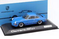 Minichamps Porsche 911 Carrera RS 2.7 Blue Black 1:43 Model Car Genuine New