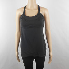 Lululemon Womens Black Athletic Built In Bra Stretch Tank Size 6 *Please Read*