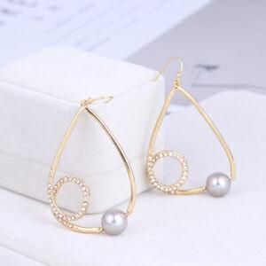 Alexis Bittar Fashionable geometric line Grey Pearl Earrings