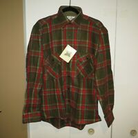 Vintage New Old Stock Sears Roebuck Khaki, Black, Beige Red Plaid Flannel Mens M