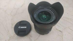 Canon EFS 10-18mm F/4.5-5.6 STM Lens w/ Canon Lens Hood + Lens Protector