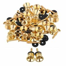 100 x Gold Strap Lock for Electric Acoustic Guitar Bass