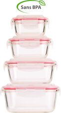 Boîtes de conservation en verre avec couvercles à clipser (x4) - Rosenstein & S