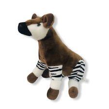 Adventure Planet Okapi Plush Stuffed Animal Toy Brown black white striped Africa
