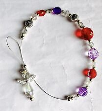 Stunning Ruby Red And Purple Twinkle Crystal Angel Sun Light  Catcher
