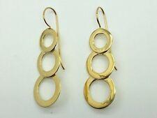 3 Circle Earrings Three Rings Hoops Vermeil 18K Gold on 925 Sterling Silver Hoop