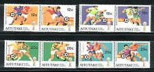 SELLOS DEPORTES FUTBOL AITUTAKI (Cook Islands)1982 318/25 MUNDIAL ESPAÑA 82 8v.