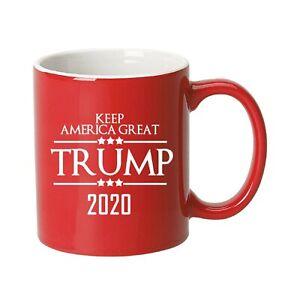 Trump 2020 Vintage Flag Ceramic Coffee Mug (Red)