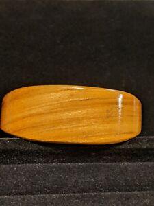 Artisan Natural Tone Wood Open Cuff Bracelet Boho
